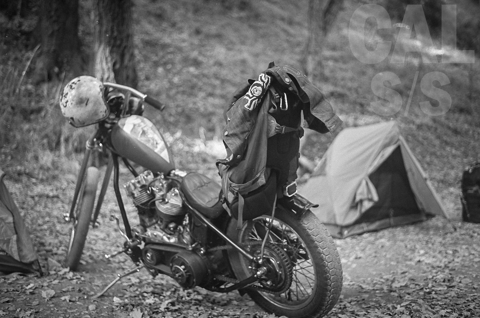 Motorcycle and Tent