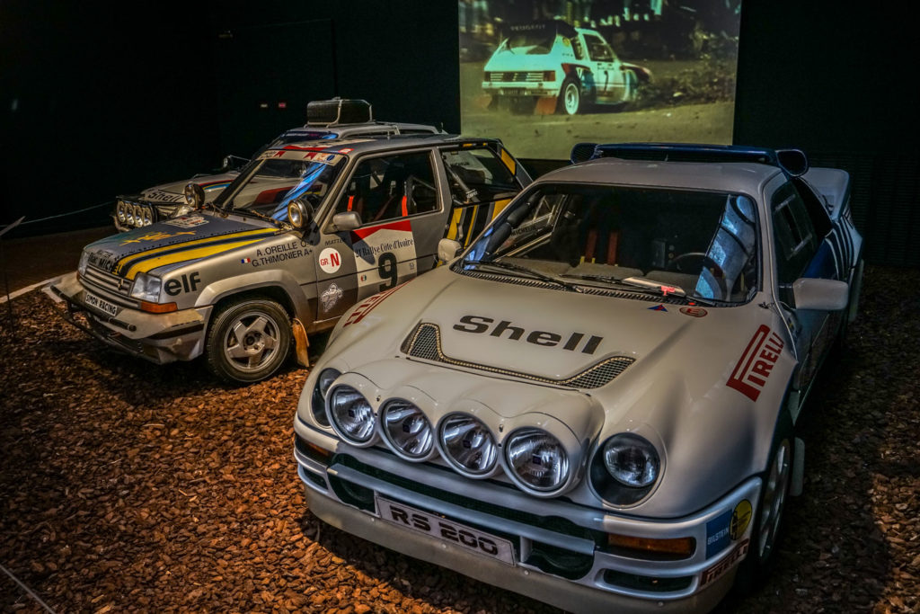 1985 Peugeot 205 Turbo 16, Renault Turbo, and Ford RS200